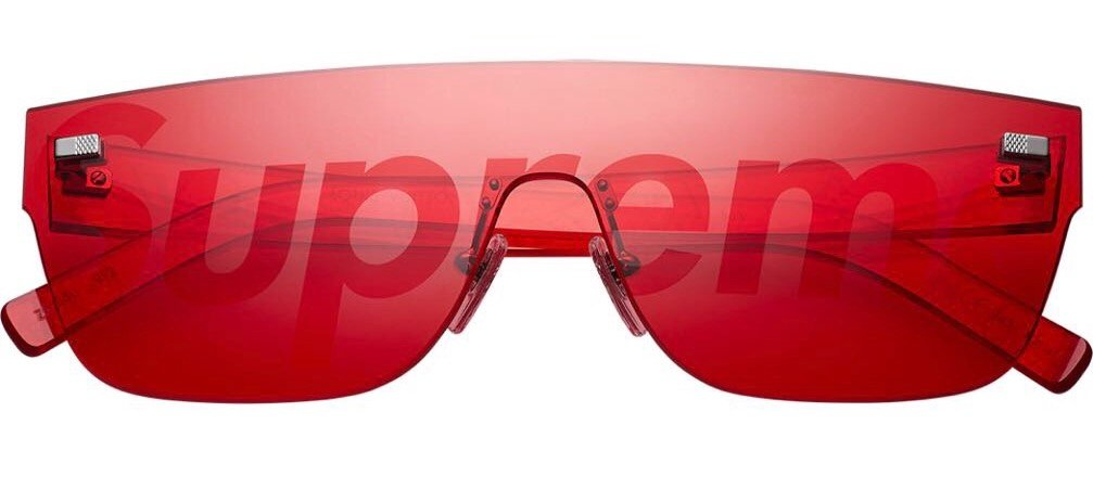 Louis Vuitton X Supreme City Mask SP Sunglasses 'Red'