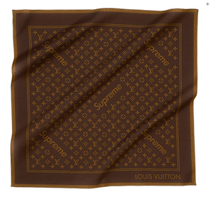 Louis Vuitton X Supreme Monogram Bandana 'Brown'