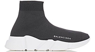 Balenciaga Speed Trainer Knit Runner 'Grey/White'