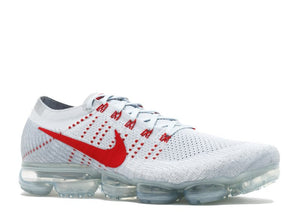 Nike Air Vapormax Flyknit 'Pure Platinum/University Red'