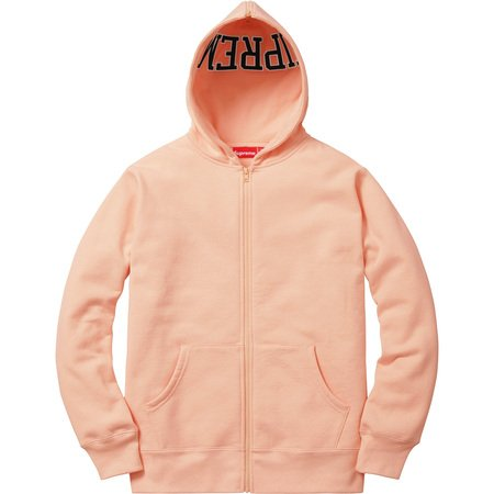 Supreme Spilt Hood Zip Up Sweat 'Peach'