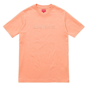 Supreme Tonal Embroidered Tee 'Peach'