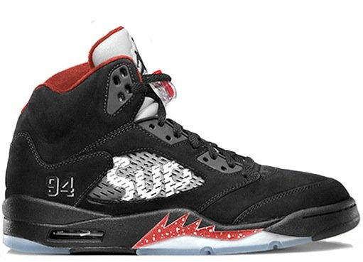 Supreme X Nike Air Jordan 5 Retro 'Black'