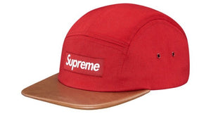 Supreme Expedition Leather Visor Camp Cap 'Red'
