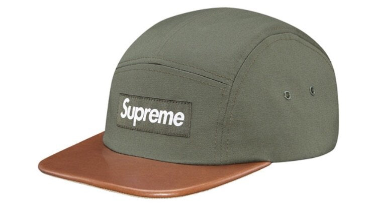 Supreme Expedition Leather Visor Camp Cap Olive