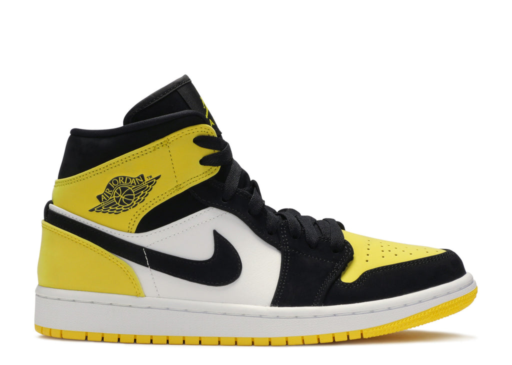 Nike Air Jordan 1 Mid 'Yellow Toe Black'