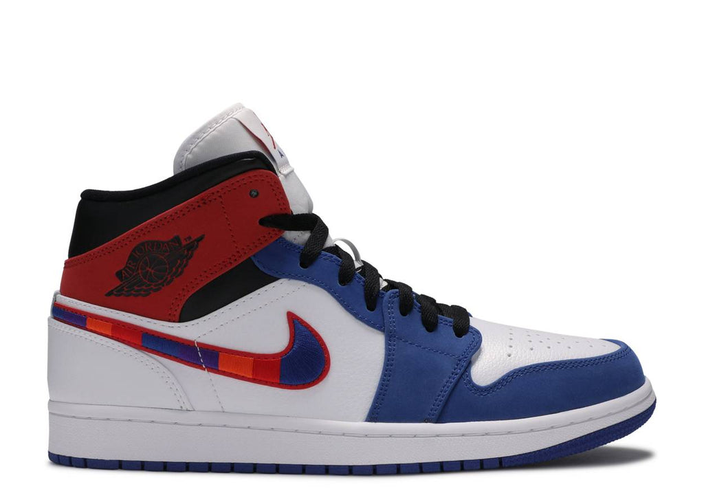 Nike Air Jordan 1 Mid 'Multi-Color Swoosh'