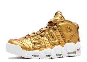 Supreme X Nike Air More Uptempo 'Gold'
