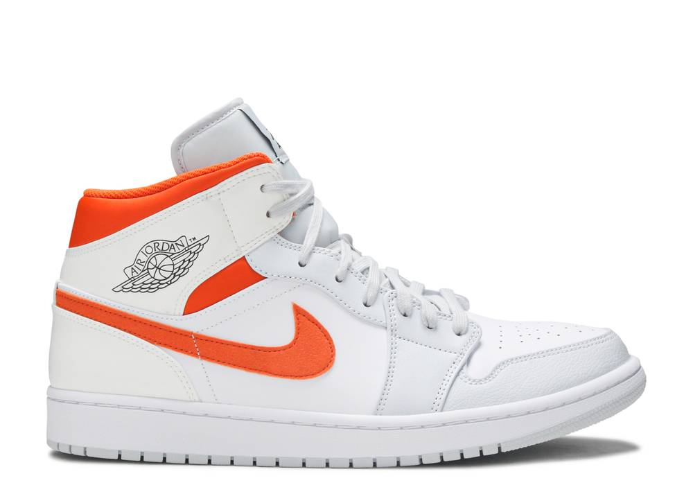 Nike Air Jordan 1 Mid 'Starfish Pure Platinum'