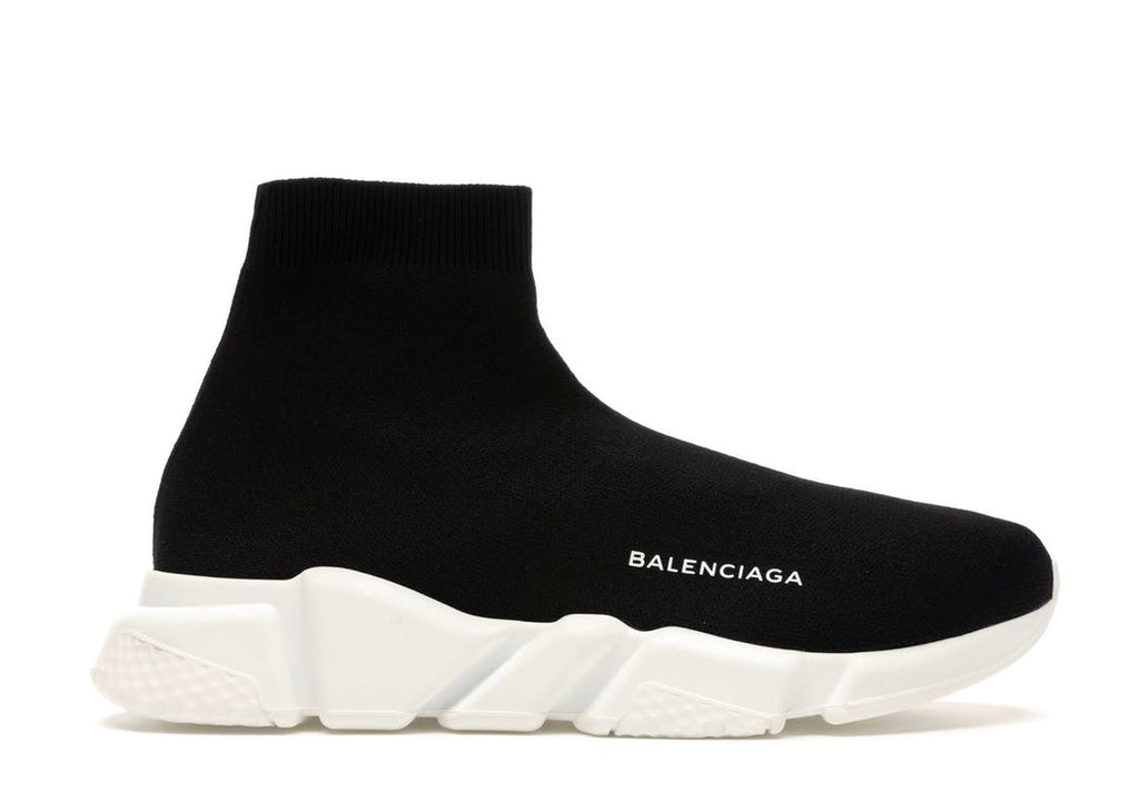 Balenciaga Speed Trainer Knit Runner 'Black White 2016'