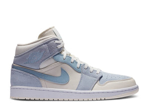Nike Air Jordan 1 Mid 'Mixed Textures Blue Tan'