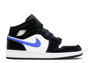 Nike Air Jordan 1 Mid GS 'Black Racer Blue White'