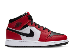 Nike Air Jordan 1 Mid GS 'Chicago Black Toe'