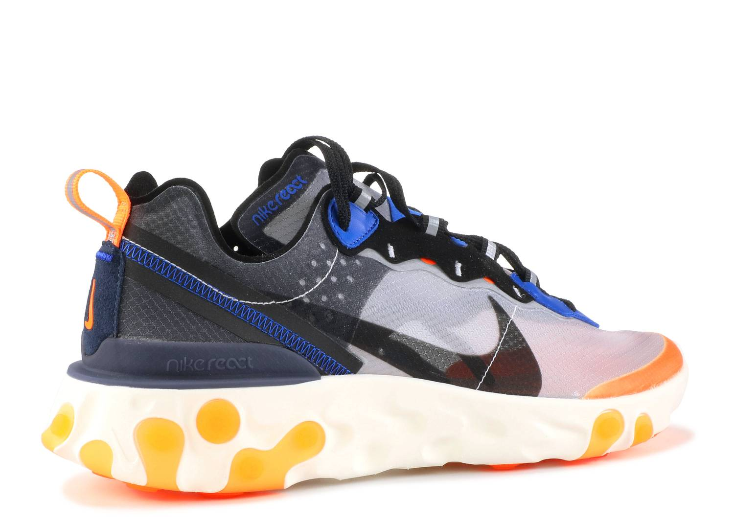 Nike React Element 87 Thunder Blue/Total Orange