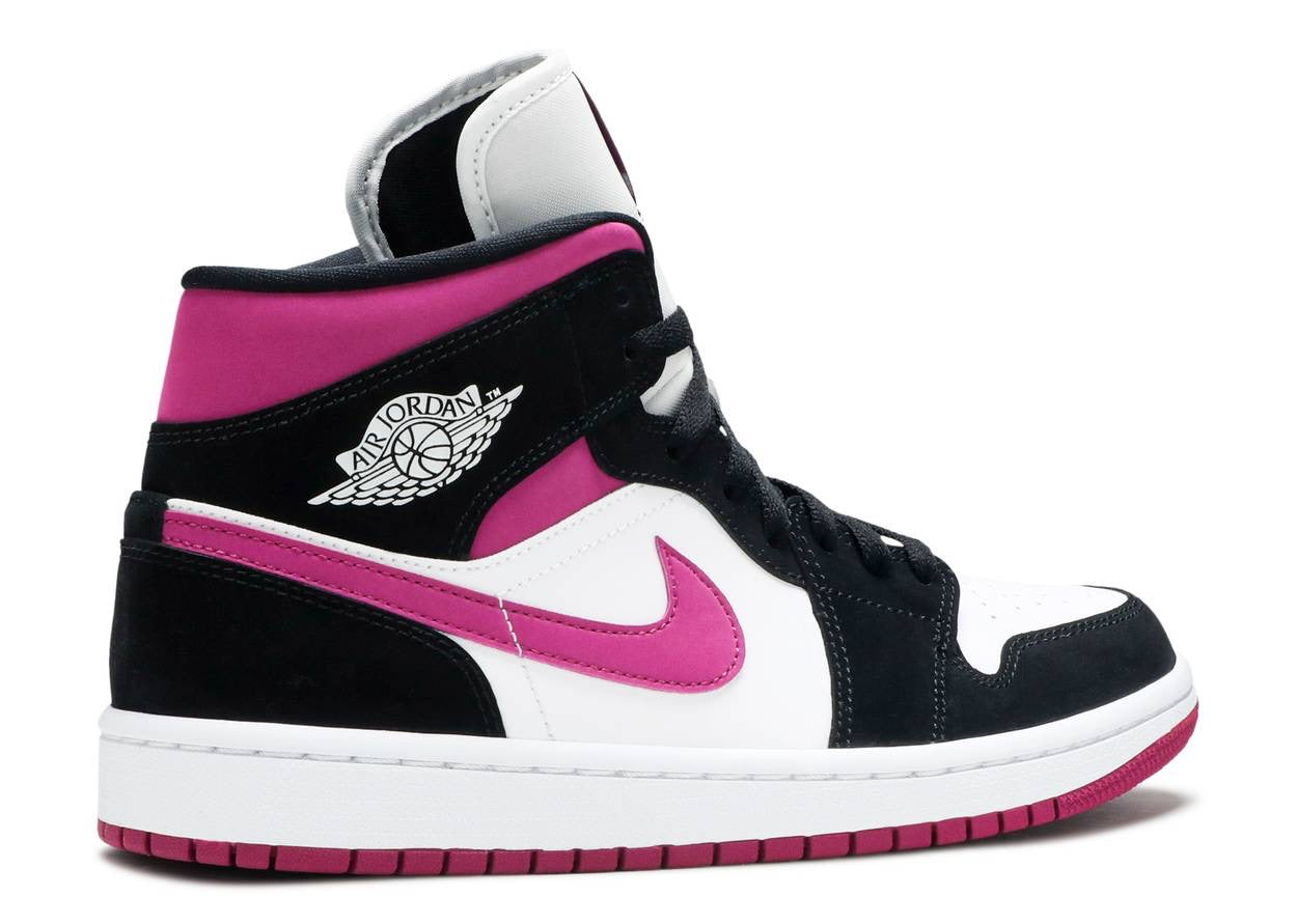 Nike Air Jordan 1 Mid (W) 'Black Cactus Flower'