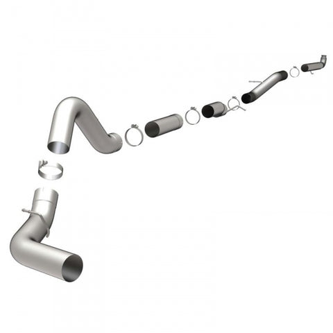"Magnaflow 5"" Aluminized Downpipe Back Exhaust - No Muffler LB7 Duramax 2001-2004"