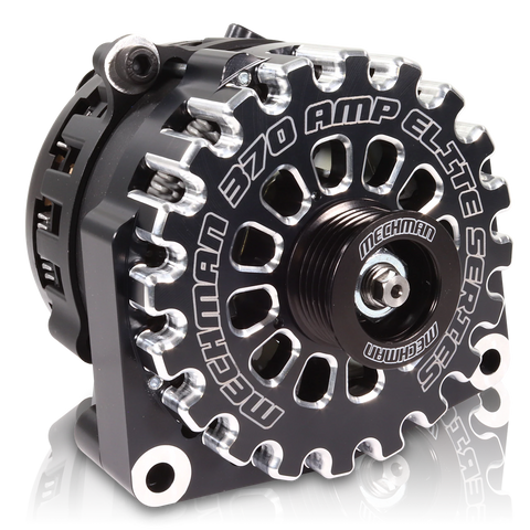 Mechman Billet 370 Amp Elite Series Alternator for 2001-2007 Classic Duramax