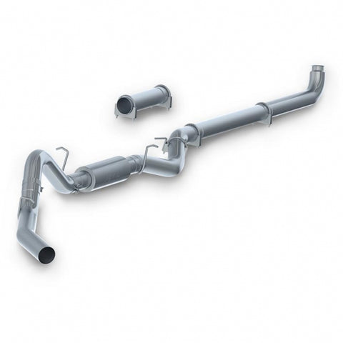 "MBRP 4"" Aluminized Downpipe Back Exhaust - With Muffler LB7, LLY, LBZ Duramax 2001-2007"