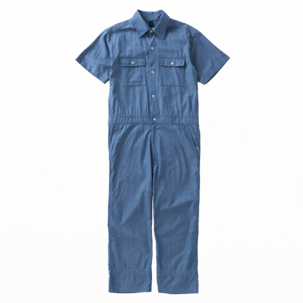ts(s) × SUICOKE / SHORT SLEEVE ALL IN ONE SUIT - Blue
