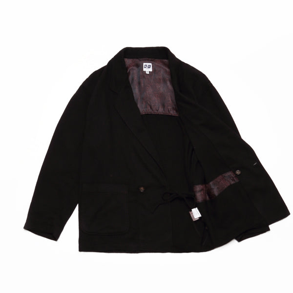 EZ JACKET - Dk.Brown Wool Poly Flannel