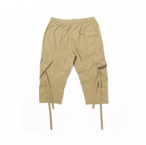 TECH QUARTER CARGO TRACK PANTS - Lt.Olive