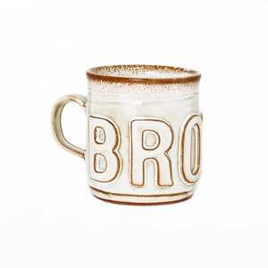BROWN MUG - White
