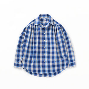 PAINTER SHIRT - Navy×White Shadow Plaid