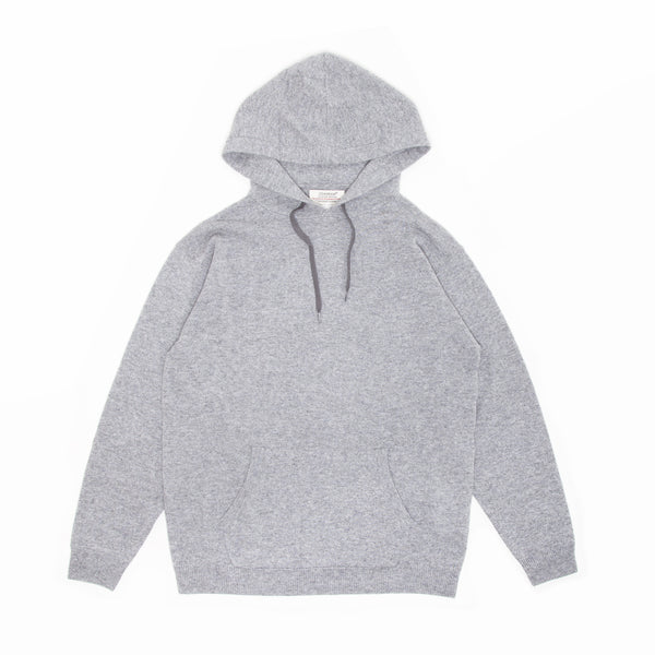 KNIT HOODIE - Gray