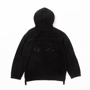 SCRIM NET OVERSIZED PARKA-Cotton Mesh