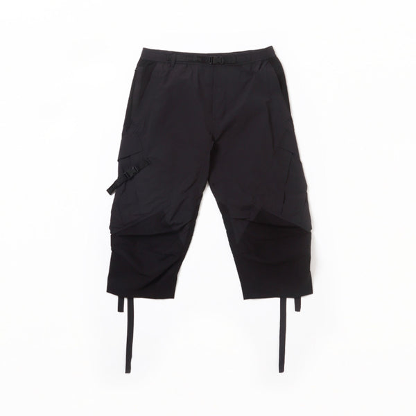 TECH QUARTER CARGO TRACK PANTS - Black Bamboo