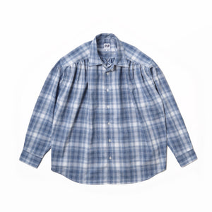 PAINTER SHIRT - Blue×White Shadow Plaid