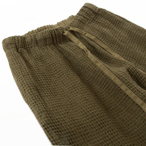 DRAWSTRING LONG SHORTS - Olive