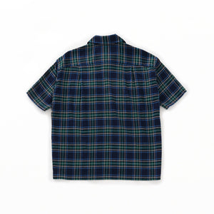 Short Sleeve Round Flap Pocket Baggy Shirt