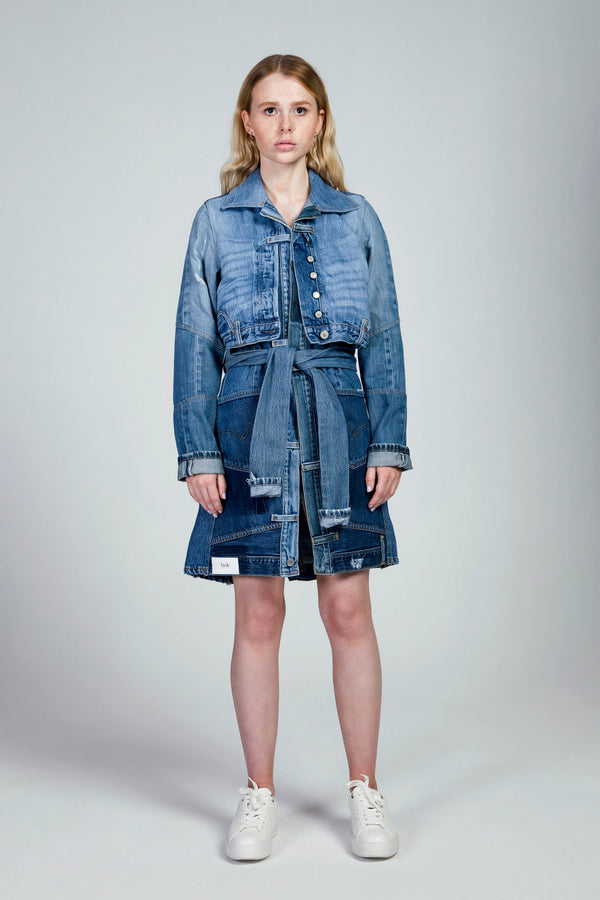 Dark Blue Denim Coat