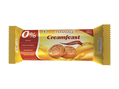 Patanjali Creamfeast Orange Biscuits