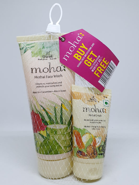 Moha Herbal Face Wash + Herbal Scrub (Free)