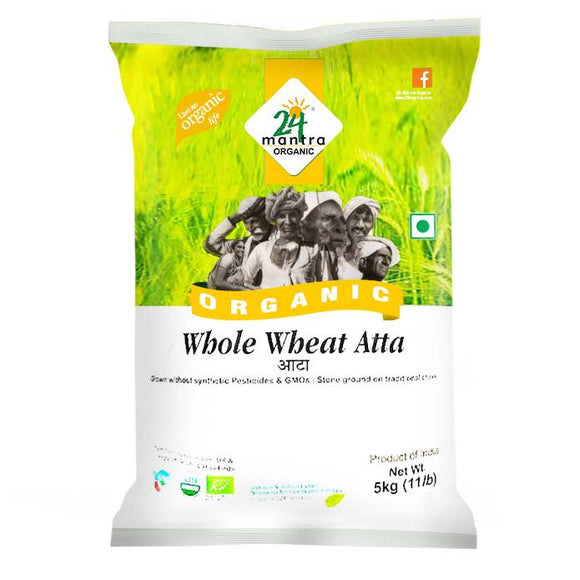24 Mantra Organic Whole Wheat Atta
