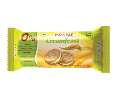 Patanjali Creamfeast Lemon Biscuits