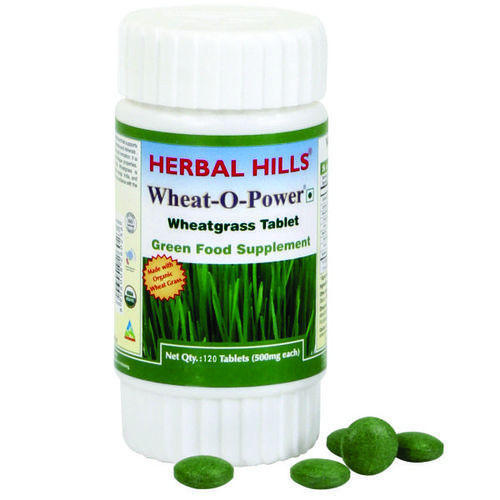 Herbal Hills Organic Wheat-O-Power Wheat Grass Tablets