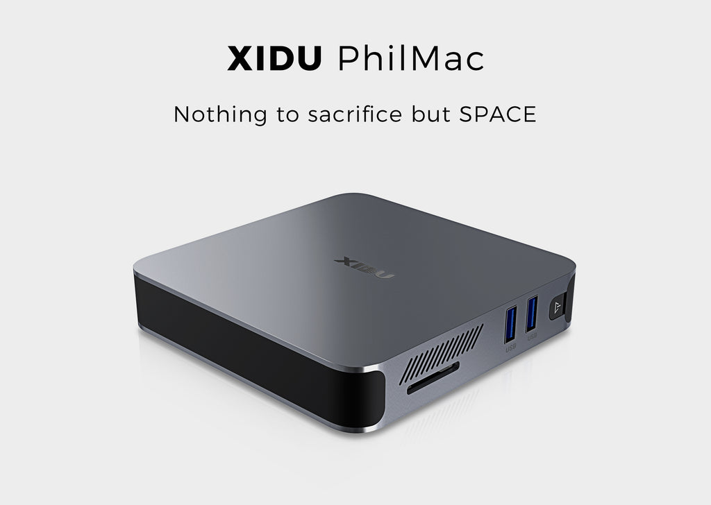 XIDU PhilMac Mini PC 8GB DDR4/128GB eMMC, Intel 2020 Latest Celeron J4115, 4K HD Mini Computer, 2.4/5G WiFi, 1000M LAN, HDMI&VGA Output, Windows 10 Home