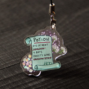 Witch Shopping List Charm