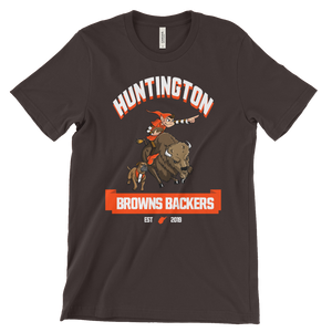 Huntington WV Backers Club Brown Short-Sleeve Unisex T-Shirt