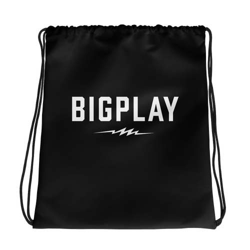 BIGPLAY Black Drawstring bag