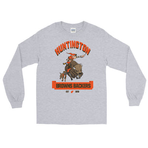 Huntington WV Backers Club Grey Long Sleeve Shirt