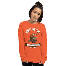 Load image into Gallery viewer, Huntington WV Backers Club Orange Men's Long Sleeve Shirt