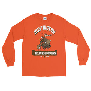 Huntington WV Backers Club Orange Men's Long Sleeve Shirt
