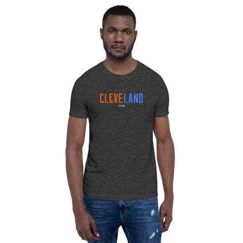 CLEVELAND RETRO HOOPS Short-Sleeve Unisex T-Shirt
