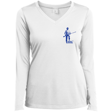 Load image into Gallery viewer, LST353LS Sport-Tek Ladies' LS Performance V-Neck T-Shirt