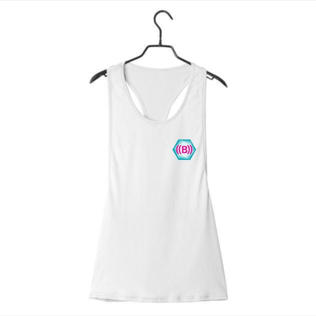 ((B)) Ladies loose sports vest | White/ Icon logo
