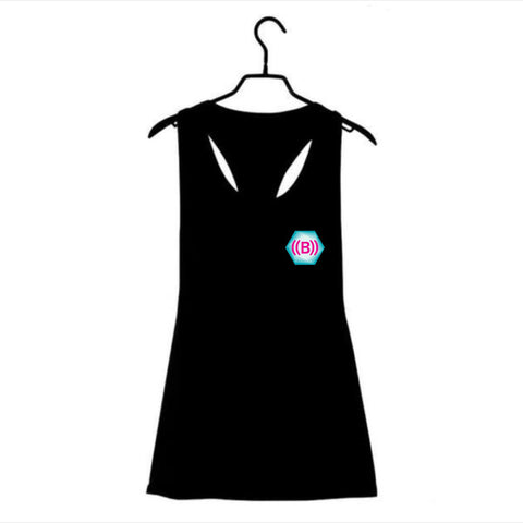 ((B)) Ladies loose sports vest | Black/ Icon logo